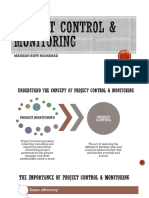 5 Project Control Monitoring