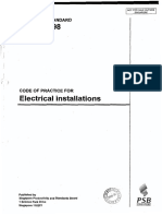 Code of Practic for Electrical Installations -CP 5 - 1998