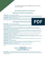 La Constitucion Politica de 1367 en El Marco de Los Cambios Politicos a Los 37 Años de La Nueva Reforma Contitucional (1)