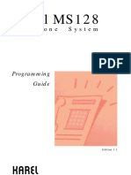 Karel MS128 Programming Guide