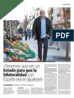 """""""Tenemos que ser un Estado para que la bilateralidad con España sea en igualdad"""""""
