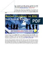 Sertifikasi ISO 9001 | WA +62 857 1027 2813