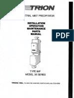 Electroststic Precipitator Trion Imp 38 Owners Manual