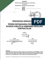 Procedura Operationala Achizitii Publice