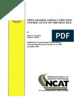 Open Graded Asphalt Friction Course