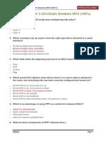 CCNA 4 Chapter 3 v5.0 Exam Answers 2015 100