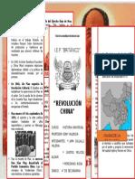 Tríptico Revolución China