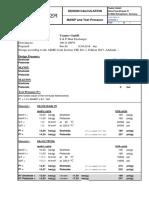 page de garde de note de calcul d'un échangeur