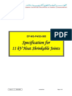 EP-MS-P4-S3-085 - 11kV Heat Shrinkable Joints - (KM Material Spec)