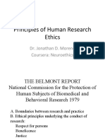 Principles of Human Research Ethics
