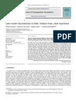 Banerjee et al (2009). Labor market discriminatino in Delhi. Evidence from a field experiment.pdf