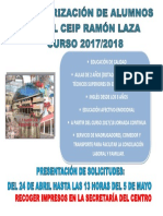 Cartel Solicitud Plaza 17-18