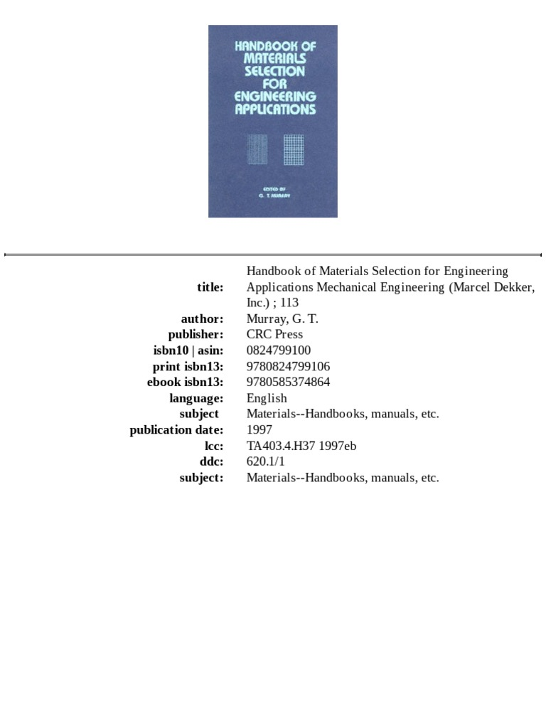 Handbookofmaterialsselectionforengineeringappdf handbookofmaterialsselectionforengineeringappdf specification technical standard design fandeluxe Image collections