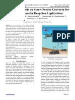 Performance tests on Screw Feeder Conveyor for Nodule Transfer Deep Sea Applications