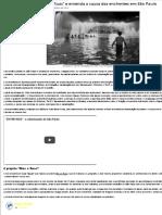 """Conheça o Projeto """"RIOS & RUAS"""" e entenda a causa das enchentes em São Paulo"""