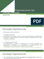 A Psicologia Organizacional Nas Últimas Décadas
