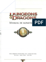 D&D 4ta edición. Manual de Monstruos.