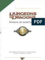D&D 4ta edición. Manual de Monstruos.