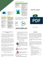 Folheto - Reciclagem