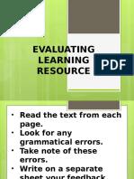 Evaluating LRs