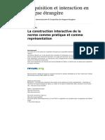 Aile 1464 12 La Construction Interactive de La Norme Comme Pratique Et Comme Representation