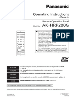 AK-HRP200 Operating Instructions Basic