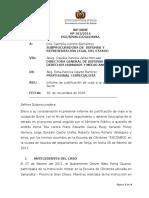Informe de Justificacion de Viaje a Sucre