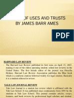 Lt_2015_117_james Barr Ames_origin of Uses and Trusts_hlr Vol.21(1907-08)