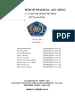 Laporan Praktikum Rekayasa Lalulintas Revisi Tgl 18 Mei 2015