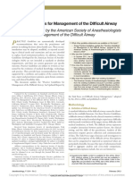 Practice Guidelines for Management of the Difficult Airway 2013