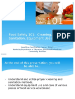 Food Safety 101_Cleaning, Sanitation, Equipement Use and Care.pptx