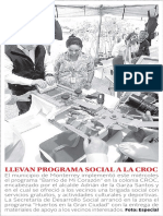 23-02-17 LLEVAN PROGRAMA SOCIAL A LA CROC