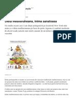 Dieta Mediteraneana Inima Sanatoasa