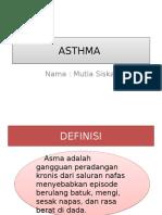 Asthma New