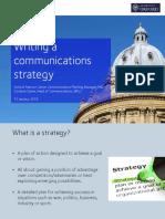 Writing a Communications Strategy (18.02.16)