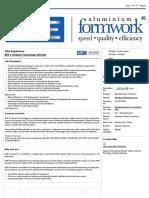 Site Supervisor - MFE Formwork Technology Sdn Bhd