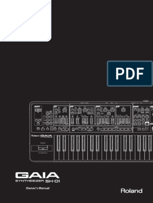 Roland Gaia Owners Manual Synthesizer Power Supply