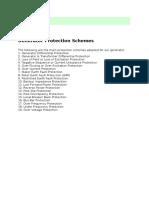 Generator Protection Schemes