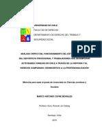Cofré, M. a. (2015) Análisis Crítico Del Funcionamiento Del Estatuto Laboral Del Deportista Profesional
