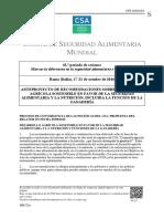 CSA Anteproyecto Sobre Recomendaciones Desarrollo Agrícola Sostenible en Favor de La SAN