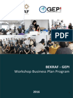 Workshop Business Plan BEKRAF-GEPI2016_2