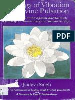 The Yoga of Vibration and Divine Pulsation Jaideva Singh