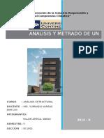 Analisis y Metrado de Un Edificio