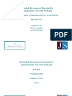 Expanded Opportunities for Joint Ventures in Government Contracting
