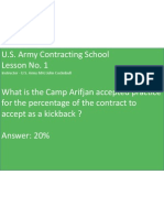 U.S. Army Contracting School    Chalkboard Lesson No 1