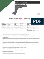Ruger 22/45 Spec Sheet