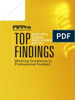 FIFPro (2016) 1st FIFPro Global Employment Report. Top Findings