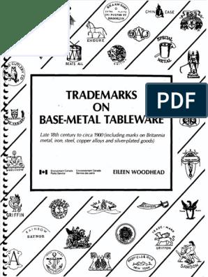 Trademarks on Base-Metal Tableware pdf   Metals   Nature