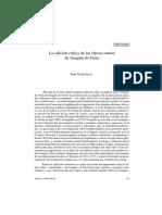 La Edición Crítica de las opera omnia de Joaquín De Fiore