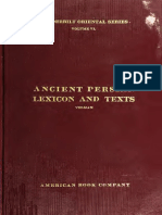 Old Persian lexicon and texts